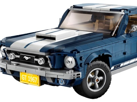 Lego Ford Mustang is a very muscular-looking Lego creation