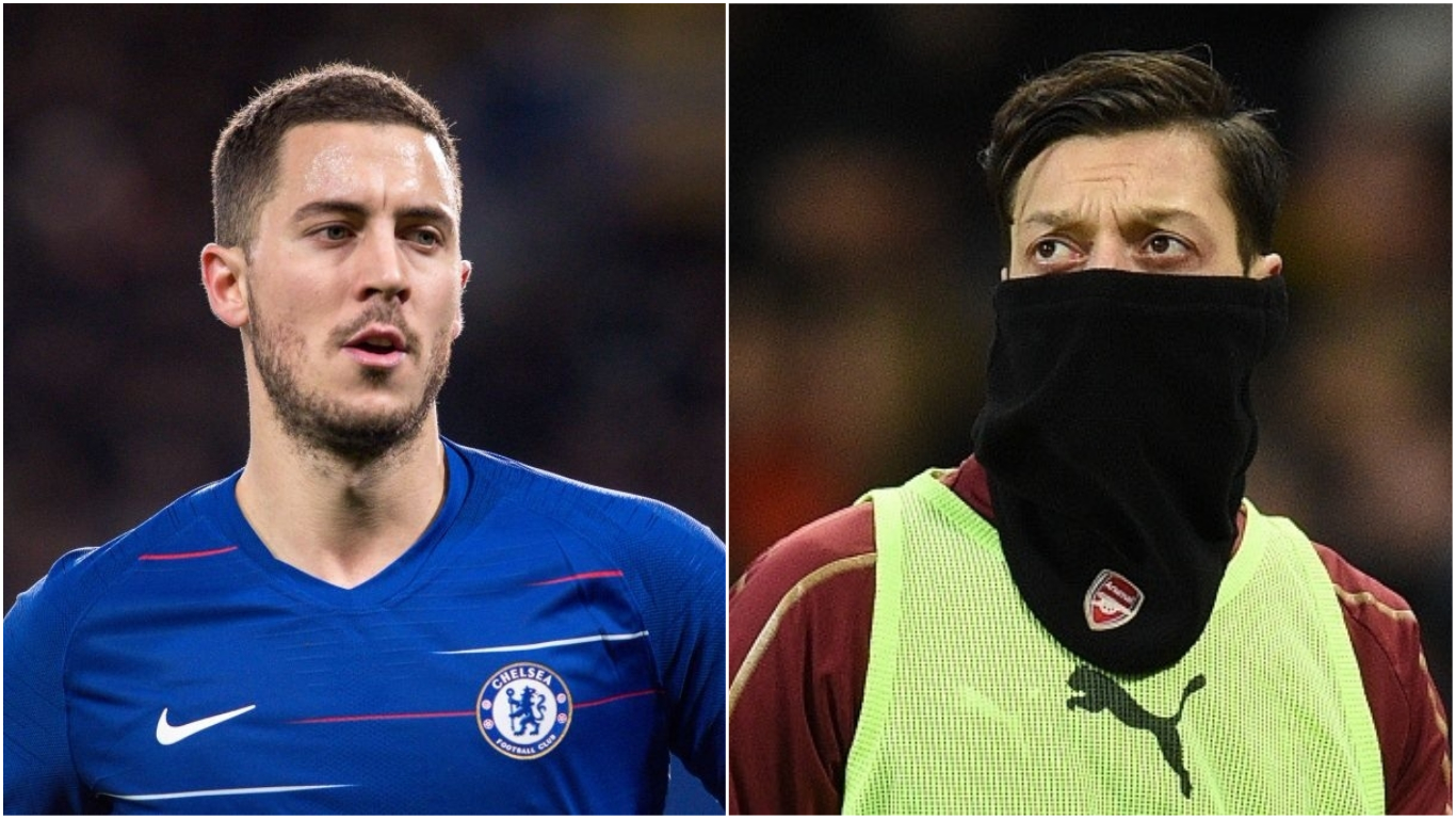 Eden Hazard and Mesut Ozil will leave Chelsea and Arsenal this summer, predicts Danny Murphy