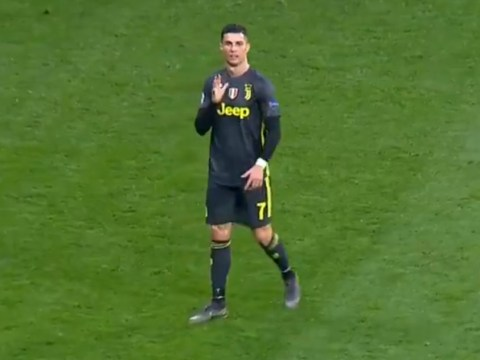 Cristiano Ronaldo taunts Atletico Madrid fans after being booed during Juventus clash