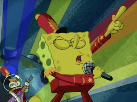 SpongeBob SquarePants surprises fans during Super Bowl Halftime show… but doesn't sing Sweet Victory
