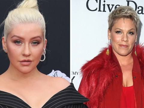 Christina Aguilera denies she tried to punch Pink at the height of their secret 16-year-old feud