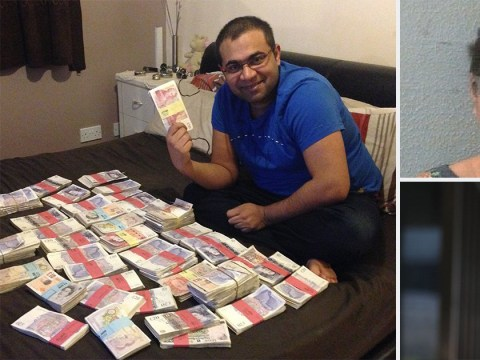 Fraudster poses with wads of cash made from illegal 'cash for visas' scam