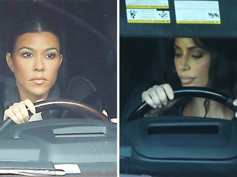 Kim Kardashian and Kourtney roll out of recording studio after The Game's graphic rap lyrics