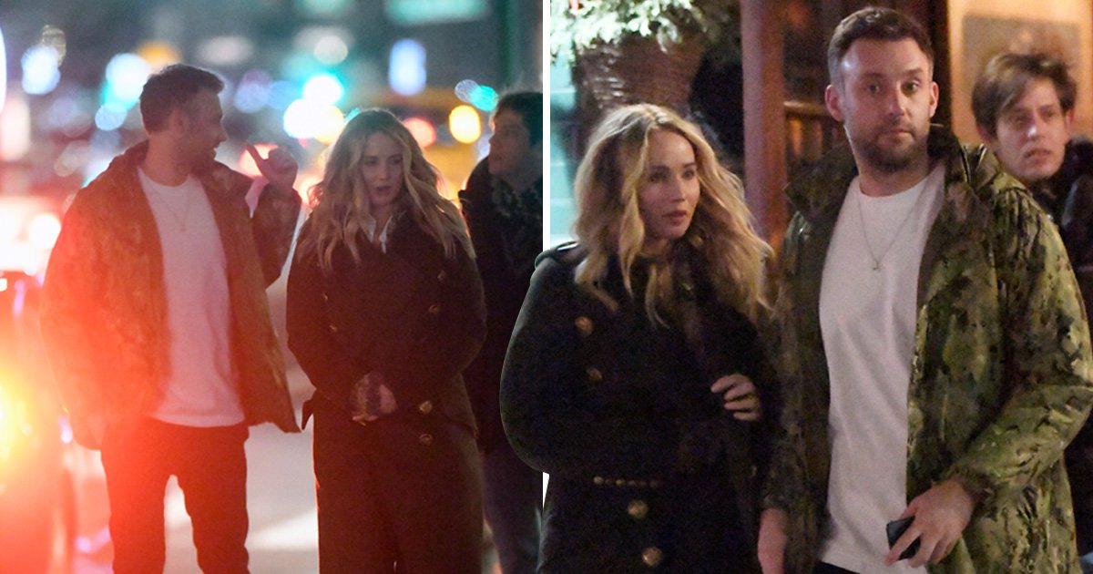 Jennifer Lawrence all loved-up with boyfriend Cooke Maroney on dinner date in New York