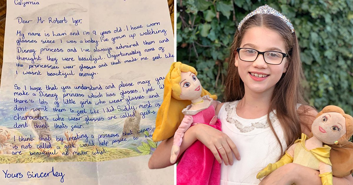 Nine-year-old girl writes to Disney to ask for more characters who wear glasses like she does