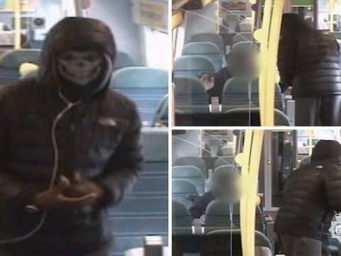 Masked teenager robs two boys at knife point on London train
