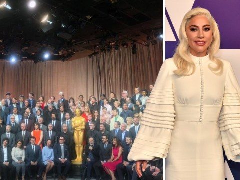 Lady Gaga and Rami Malek eye Oscars 2019 glory as they pose for epic group luncheon photo
