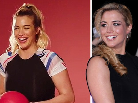 Gemma Atkinson returns to the gym after battling morning sickness: 'Please let me have a healthy baby'