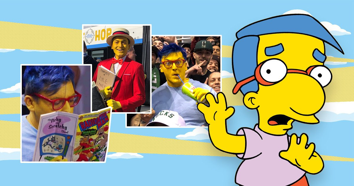 I'm Your Biggest Fan: Guy who dresses as Milhouse from The Simpsons to troll NBA fans
