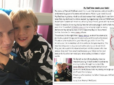 Boy, 8, writes heartbreaking letter to ask strangers to help save his dad