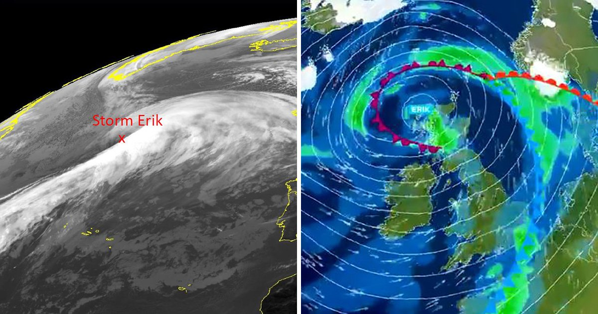 Storm Erik set to batter Britain with heavy rain and 70mph winds