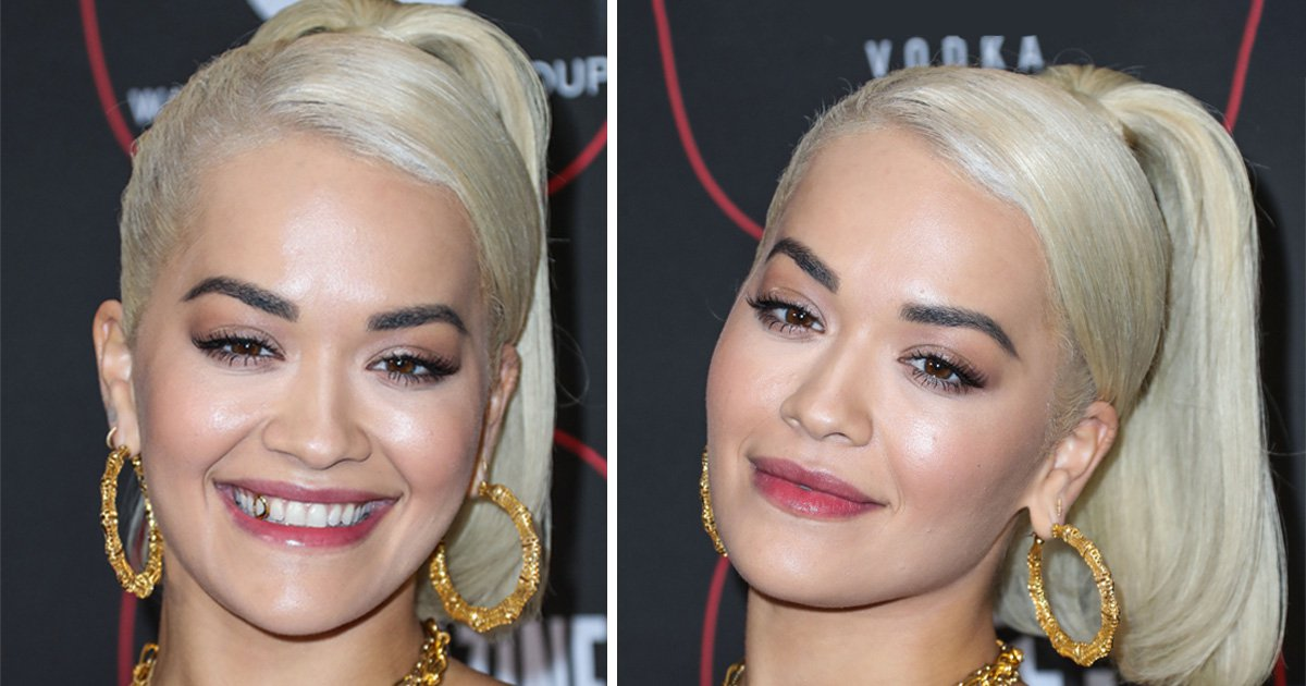Rita Ora shows off bold new take on a gold tooth at pre-Grammy party in Los Angeles