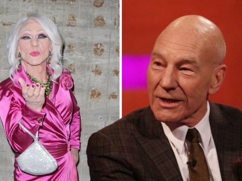 What out RuPaul! Patrick Stewart unveils drag alter ego Patty Le Stew