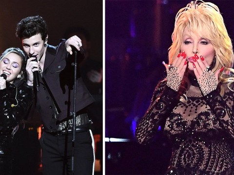 Miley Cyrus, Shawn Mendes and Katy Perry join string of A-listers to honour Dolly Parton at Grammys pre-party