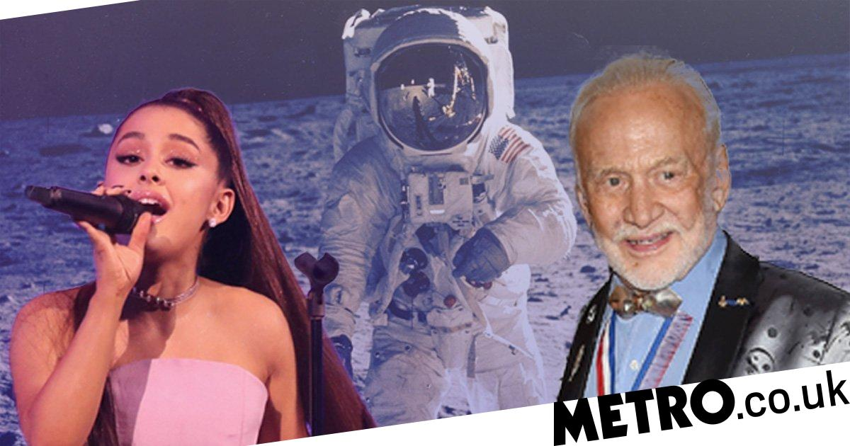 Ariana Grande Freaks Out As Buzz Aldrin Fangirls Over Nasa Song