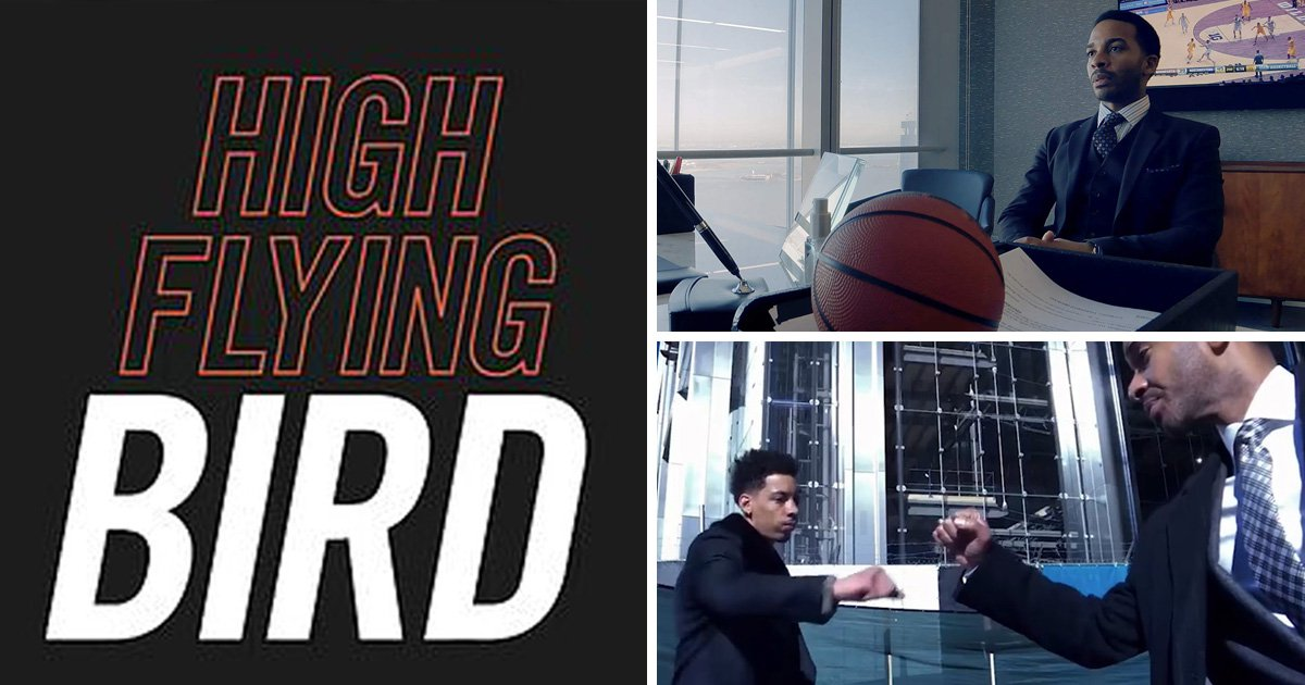 What is Steven Soderbergh's new Netflix film High Flying Bird about and who is in the cast?