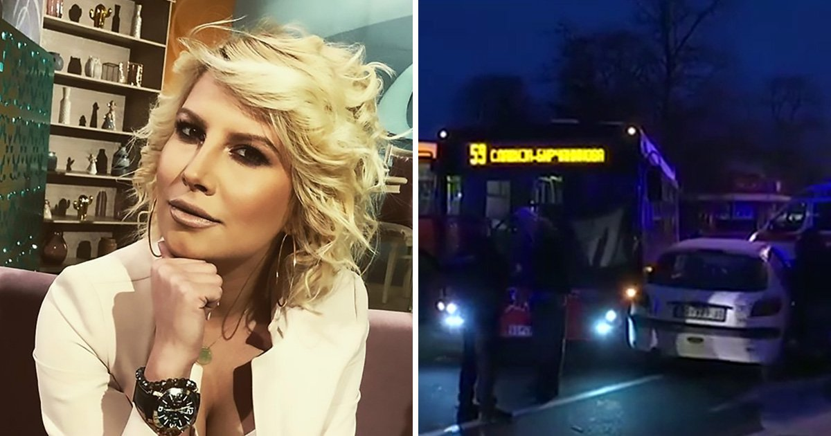 TV presenter's arm reattached after being torn off in bus crash
