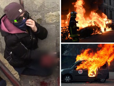 Yellow vest activist's hand 'blown off' as violent clashes continue in Paris