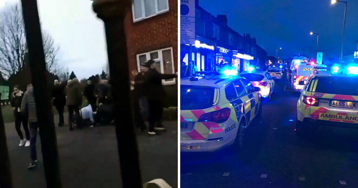 Men 'covered in blood' after violence breaks out following Premier League match