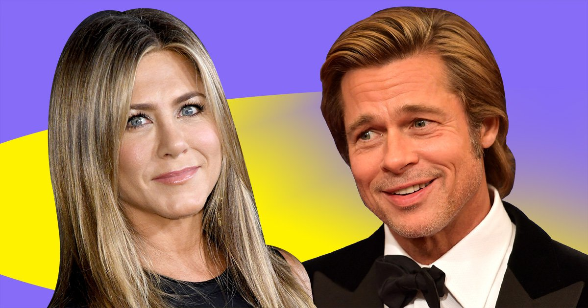 Jennifer Aniston and Brad Pitt 'hugged and chatted' at her 50th birthday party as friendly exes reunite