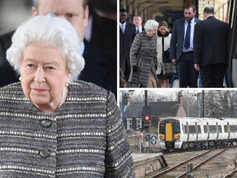 Queen spotted catching train back to London after Christmas break