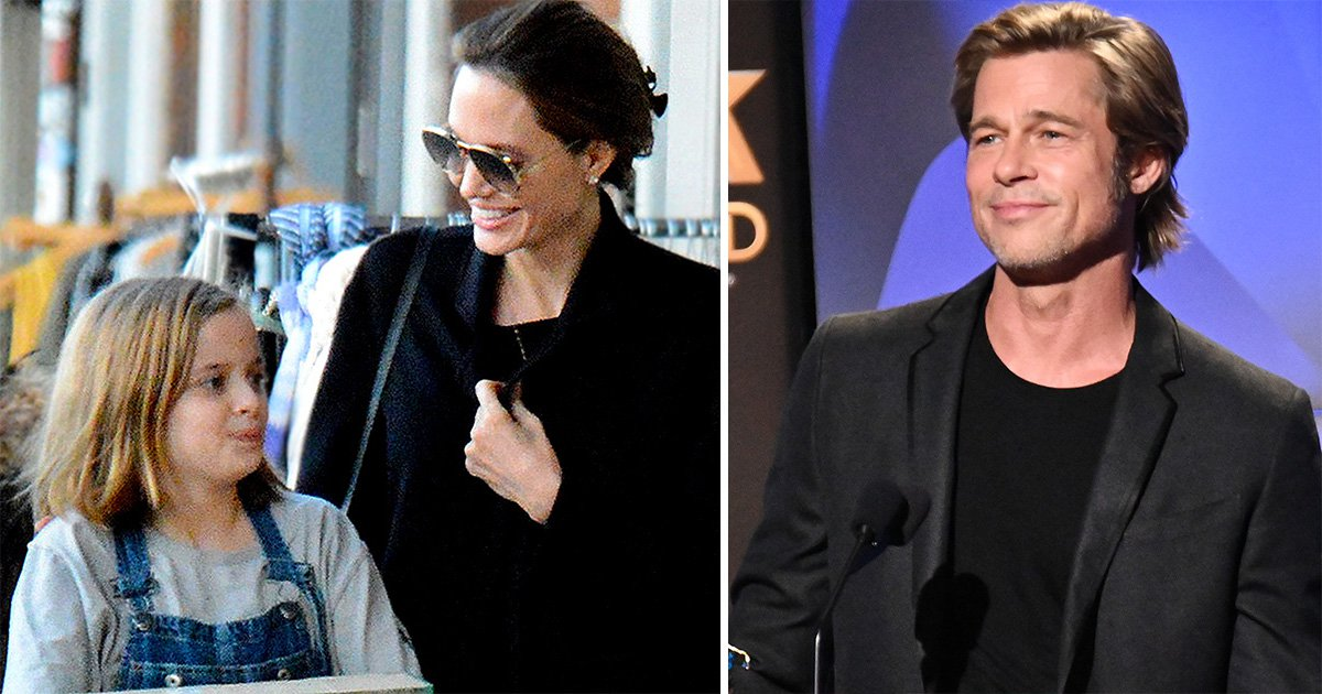 Angelina Jolie looks super happy with her daughter Vivienne after Brad Pitt parties with Jennifer Aniston