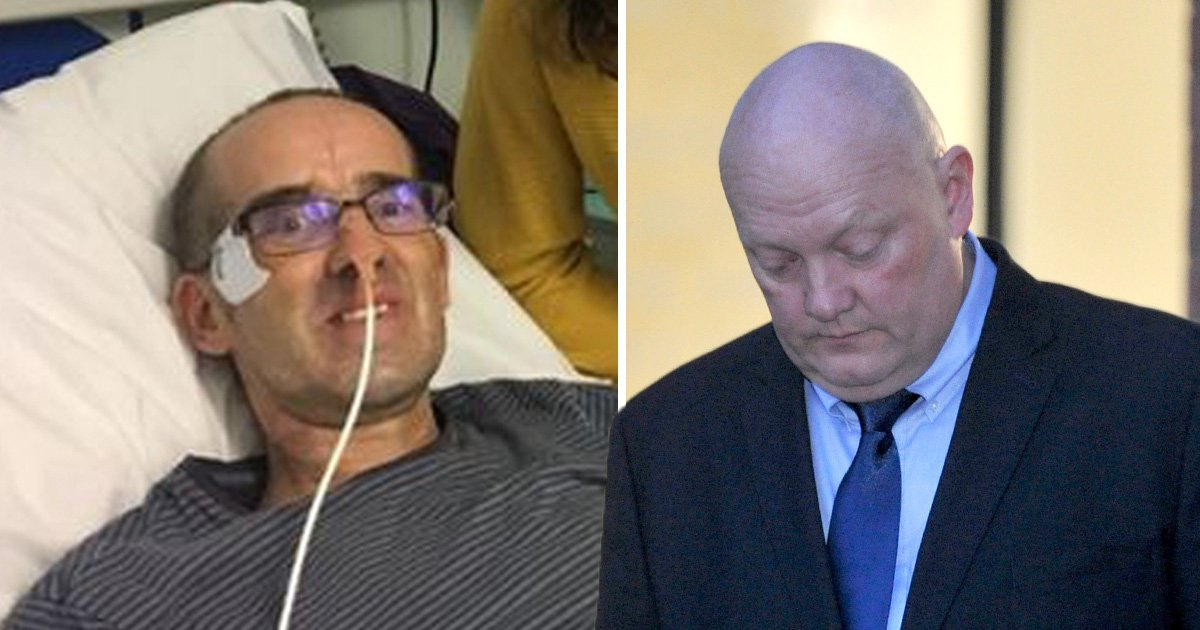 Lorry driver in tears as cyclist forgives him in court for putting him in coma