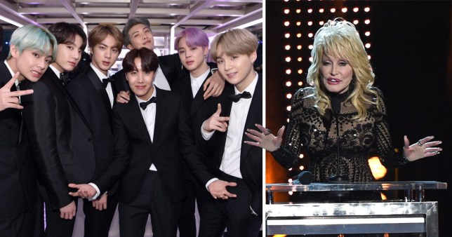 BTS and Dolly Parton