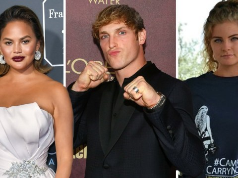 Chrissy Teigen tells Logan Paul and Kaitlin Bennett 'the internet doesn't care' as they join forces for podcast