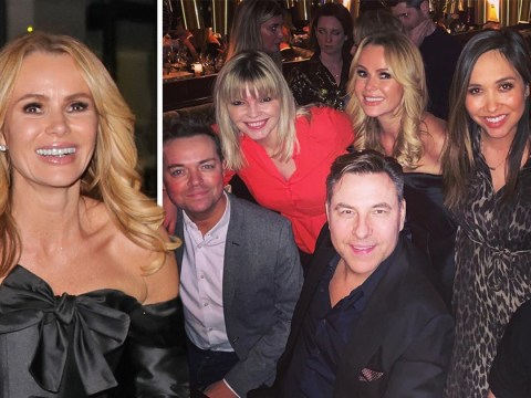 Amanda Holden parties with David Walliams and Myleene Klass for 48th birthday celebrations
