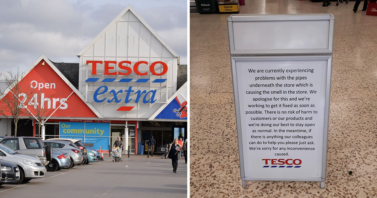 Tesco smells so rancid people have stopped shopping there