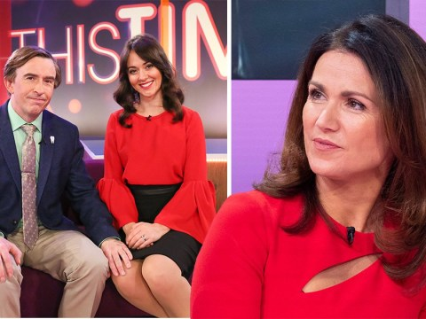 Alan Partridge's new sidekick got her inspiration from Susanna Reid dealing with Piers Morgan on GMB