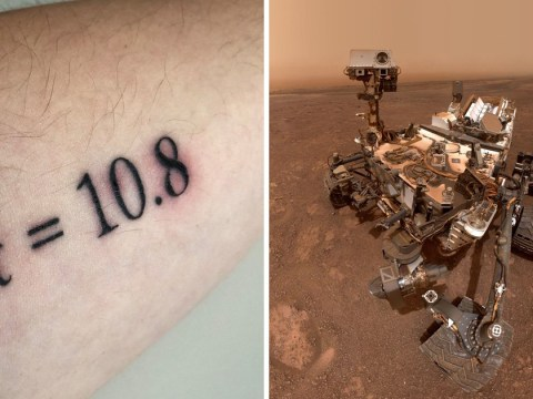 Scientist gets tattoo showing Opportunity rover's final reading from Mars