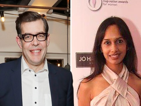 Pointless star Richard Osman, 6ft 7in, is dating jazz singer 19 inches shorter than him