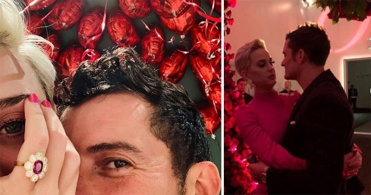 Katy Perry and Orlando Bloom engaged after three years together as she flashes pink diamond ring