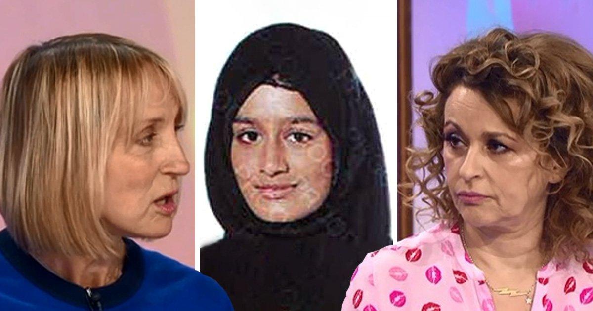 Loose Women's Nadia Sawalha clashes with Carol McGiffin over Isis schoolgirl's UK return