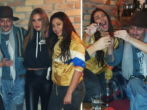 Johnny Depp downs shots and parties with girlband on Valentine's Day in Belgrade
