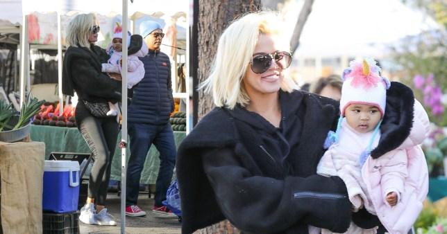 True News Usa >> Khloe Kardashian Looks Relaxed With Baby True Amid Breakup Rumours
