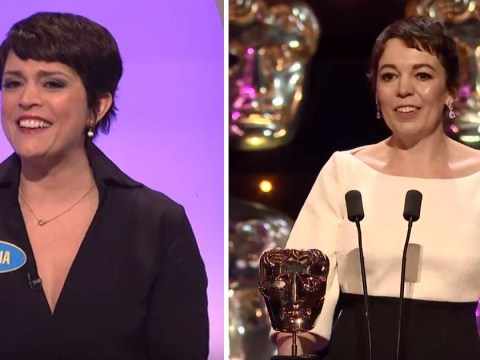 Olivia Colman spoofed on US TV getting 'pissed' and nearly wetting herself