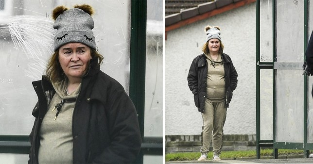 Susan Boyle at the bus stop