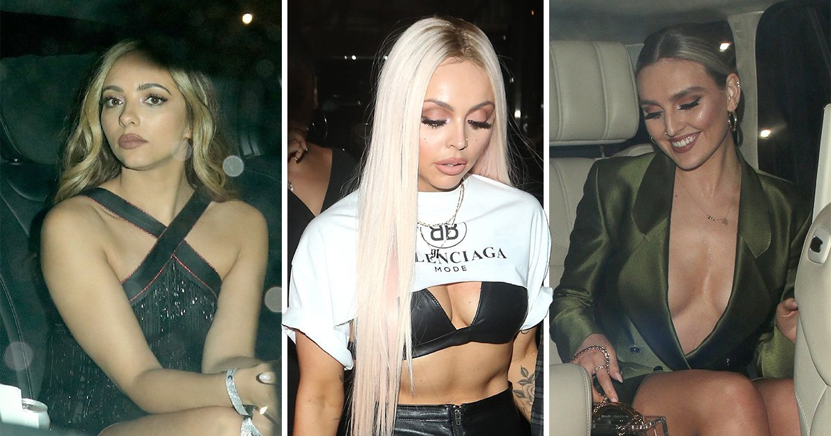 Little Mix sport third outfits of the night as they celebrate Brits win at after-party