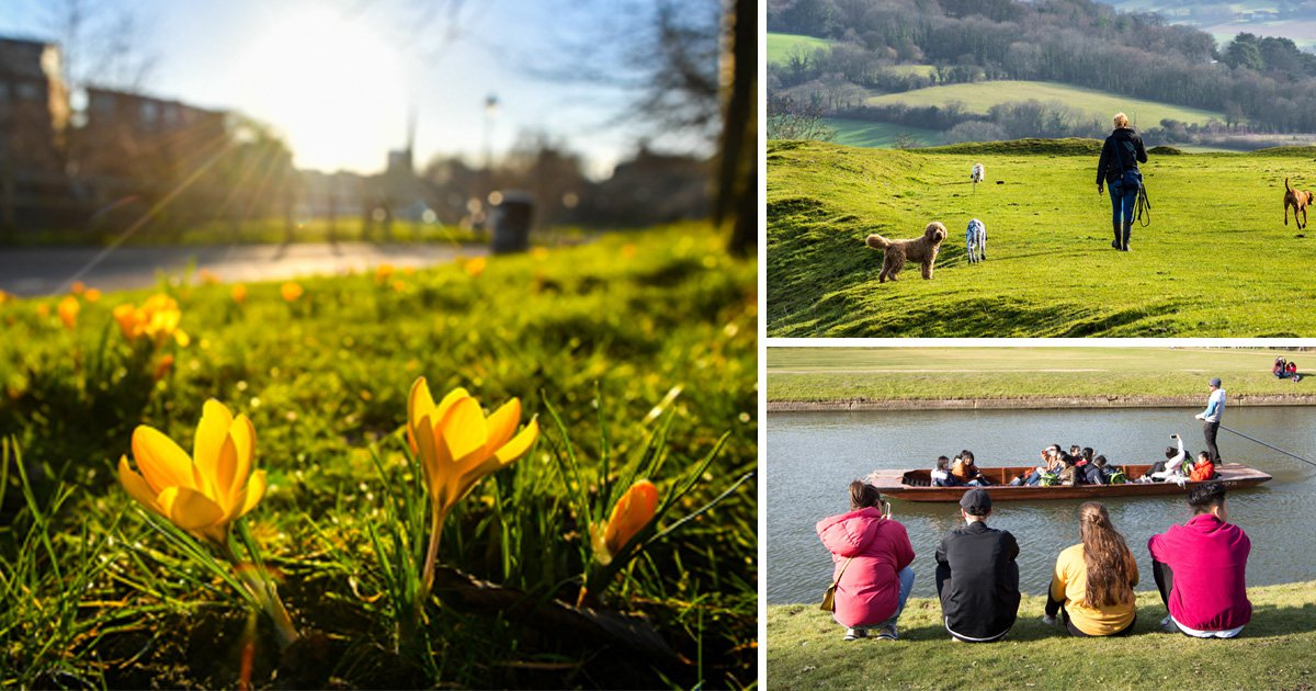 Sunshine this weekend as temperatures hit 10C higher than normal