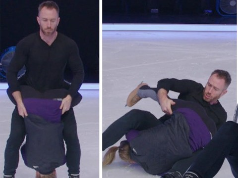Dancing On Ice's James Jordan drops partner on her head in horror fall