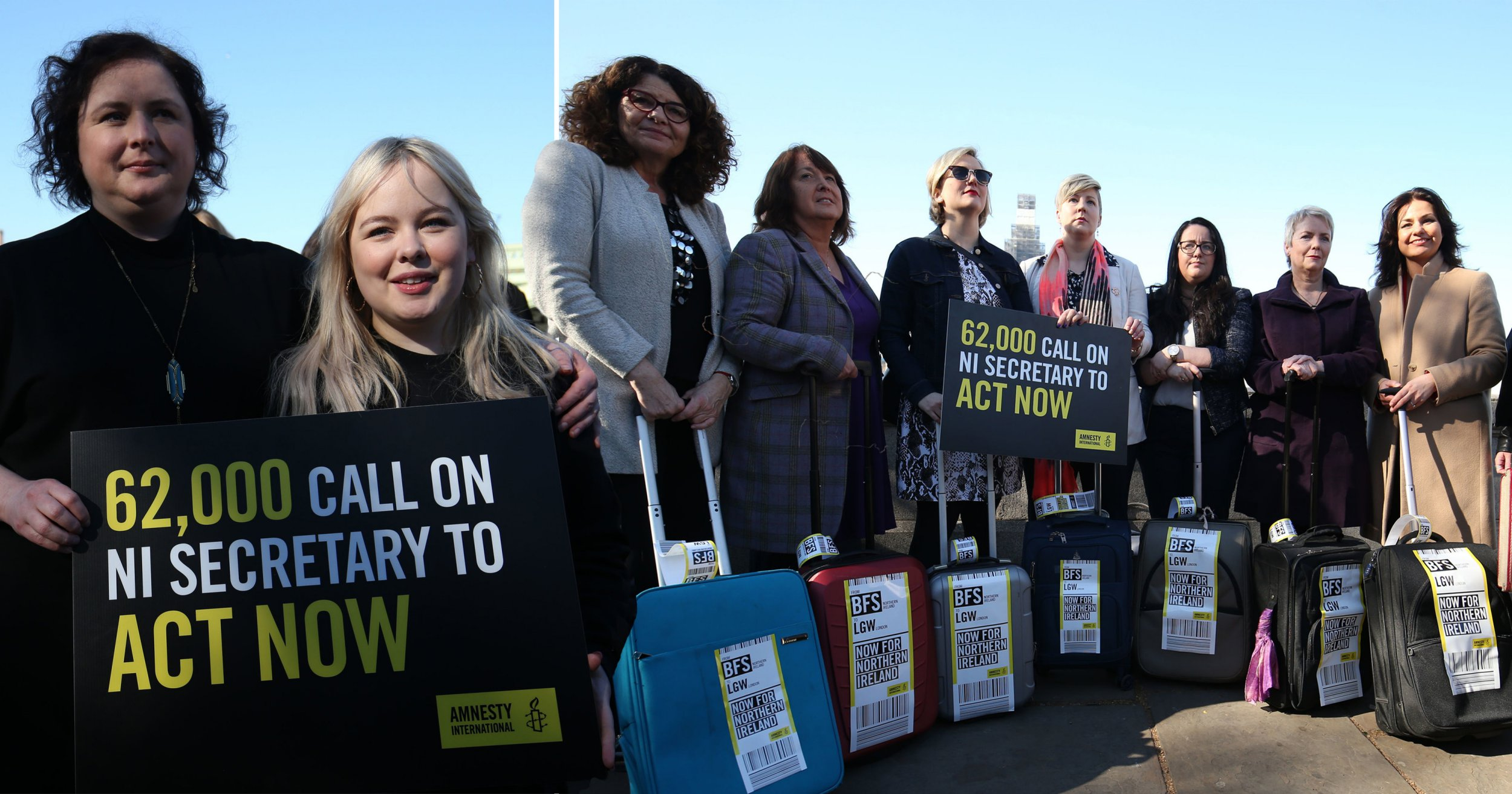 I'm marching my suitcase to Parliament for my sisters' in Northern Ireland right to an abortion