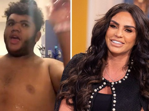 Katie Price takes son Harvey swimming after dodging drink driving conviction and he loves it