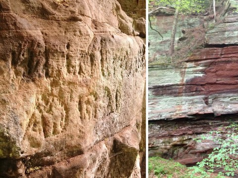 Rude Roman graffiti including an image of a huge penis discovered in Cumbria