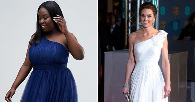 935c70d62b ASOS launches £65 dress that looks like Kate Middleton s Bafta dress ...