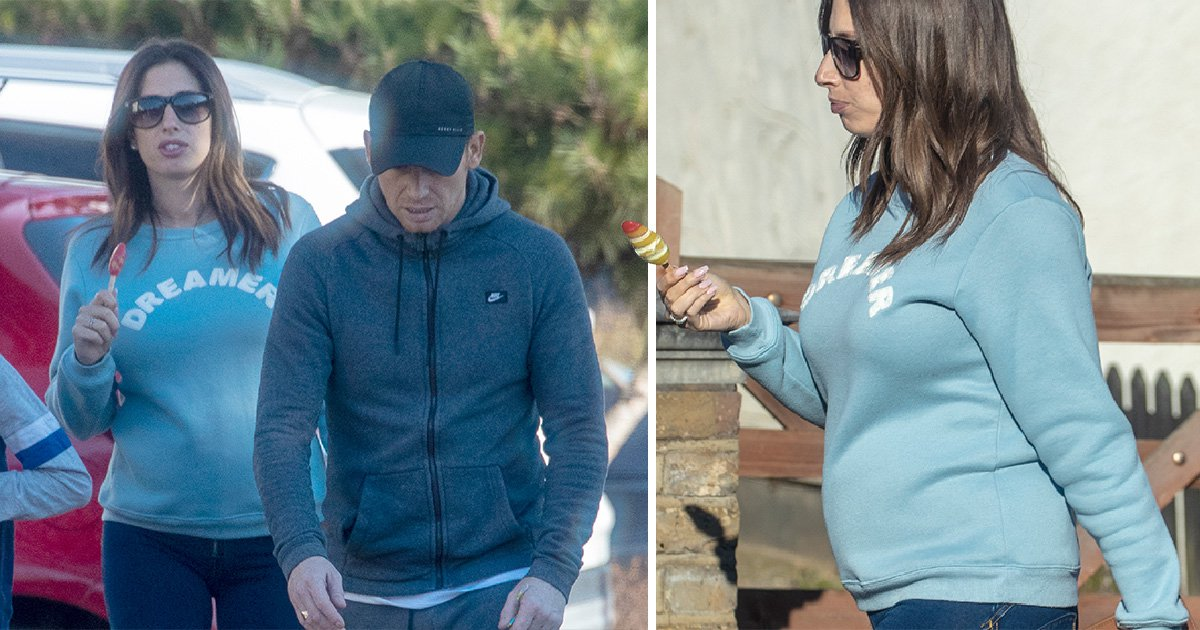 Stacey Solomon gives first peek at her baby bump on family day out with Joe Swash