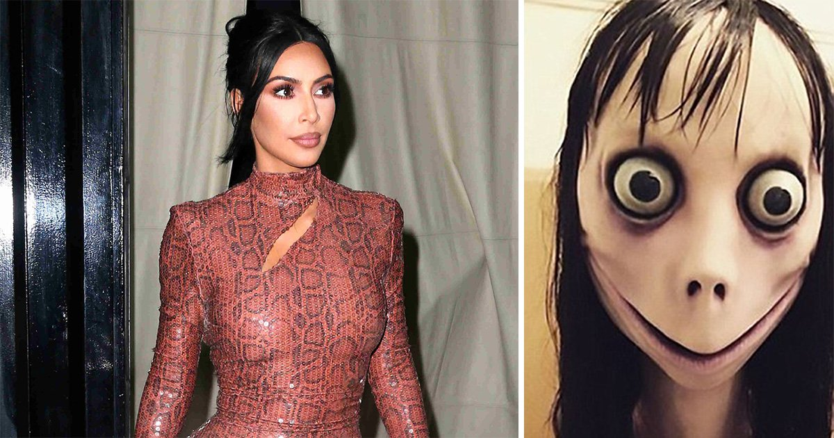 Kim Kardashian wants Momo Challenge banned from YouTube so begs them for help