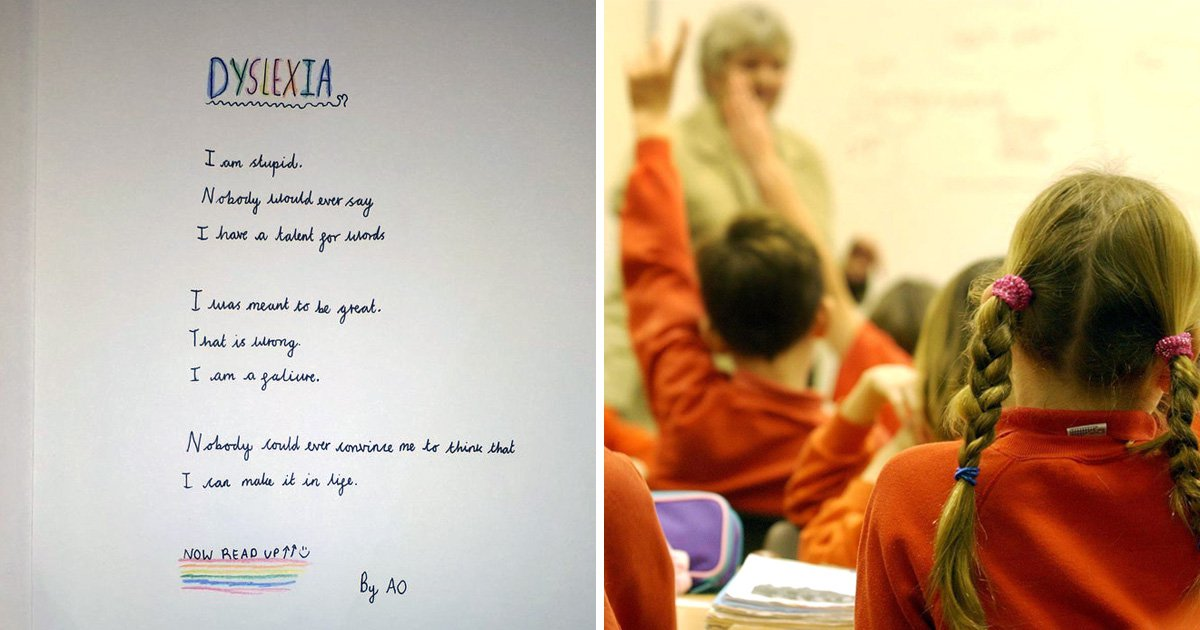 Teacher shares incredible backwards poem written by her 10-year-old dyslexic student